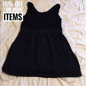 Dresses & Skirts - Cute black dress with laces